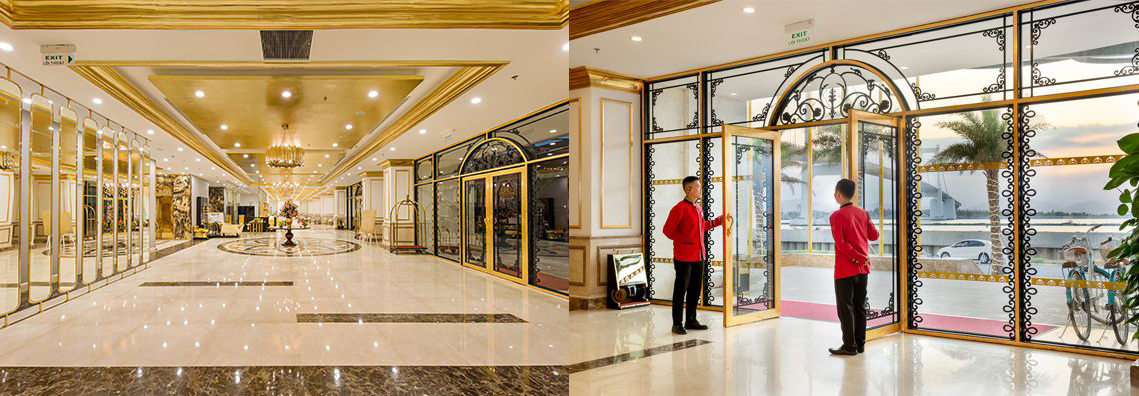 Danang Golden Bay Hotel Lobby and Hotel Entrance