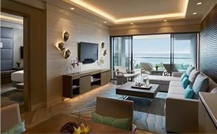 Discovery Shores Signature Suites One Bedroom Living Room