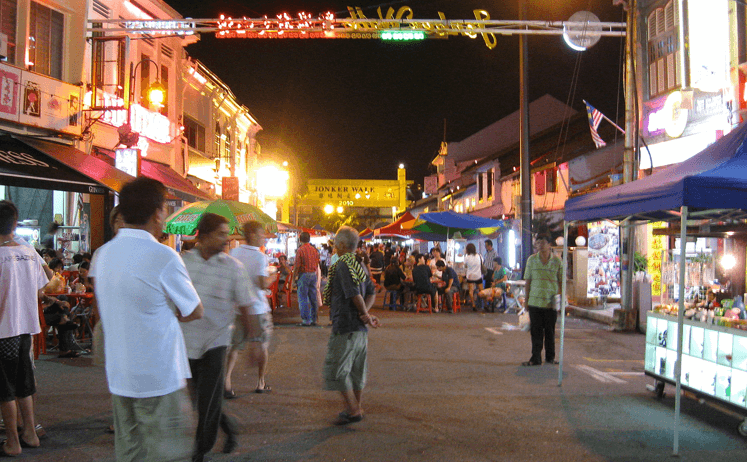 The Area Around Hatten Place Melaka - Jonker Street