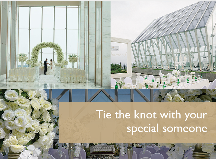 Tie the knot with your special someone