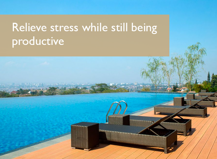 Relieve stress while still being productive