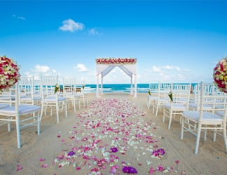 Sheraton Samui Resort beach wedding
